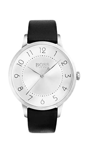Hugo Boss Damen Datum Quarz Armbanduhr mit Lederarmband 1502408