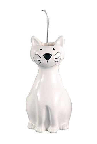 Wenko - Humidificador (2 unidades, cerámica, 10,5 x 21 x 5,5 cm), diseño de gato, color blanco