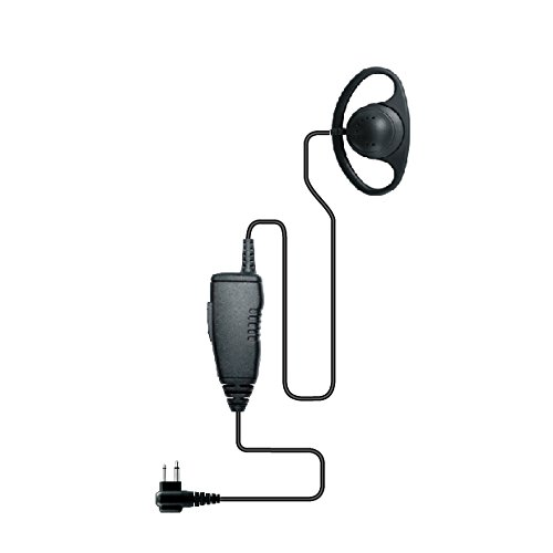 Maximal Power RHF MOT P07 D Shape Earhook Microphone with Waterpoof IP54 Face PTT, 2 Way Radio and 2 Pin Plug Models for Motorola