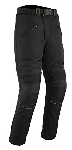 Basics Hombre Impermeable Y CE blindado moto pantalones, hombre, Pantalones, Waterproof and CE Armoured Motorbike, negro, Waist 40/Leg 30
