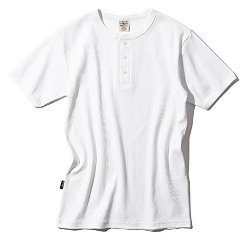 [アヴィレックス] Tシャツ半袖 (抗菌) (防臭) DAILY RIB HENRYNECK TEE 6143504 メンズ