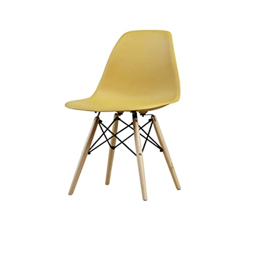 QIAOLI Moderna silla lateral de mediados de siglo con patas de madera natural para cocina, salón, comedor, juego de 1 (color: B)