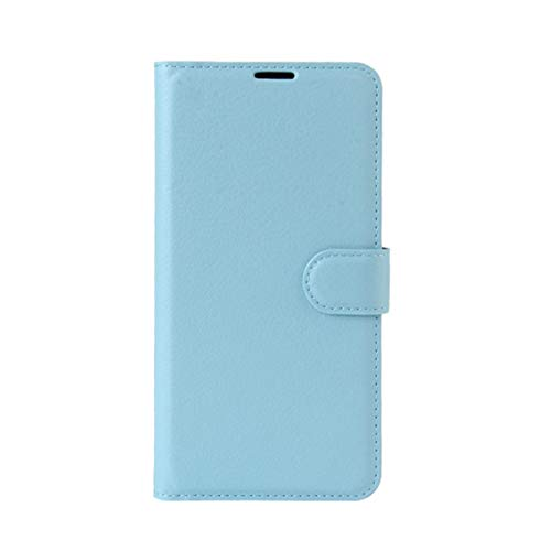 Phone case Lmy for Leagoo M8 Pro Litchi Texture Horizontal Flip Leather Case with Holder & Card Slots & Wallet (Black) (Color : Blue)