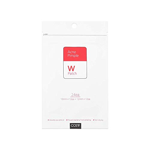 COS.W Acne Pimple Patch | Pack of 24 [10mm (12 patches)12mm (12 patches)] | Treat Acne with High-Grade Hydrocolloid ● 2 Sizes Invisible Acne Patches