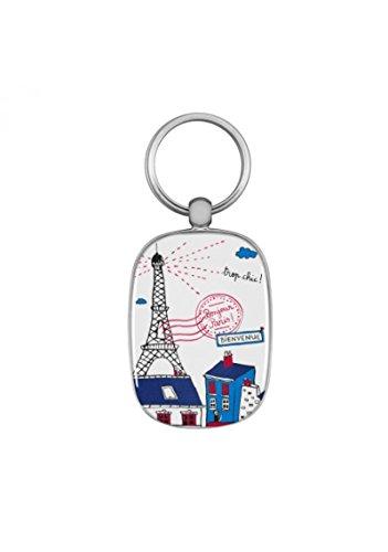 DLP - Portachiavi Bonjour Paris, multicolore