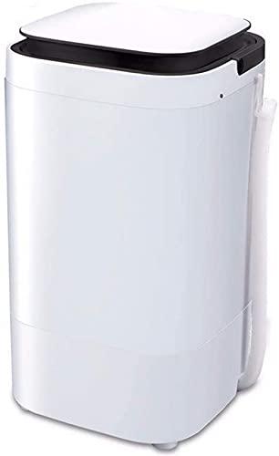 Mini Lavadora Portátil 2 en 1 Portátil Compacta Lavadora de Tina Individual para Bebés y Niños Mini Silenciosa 5 kg Lavado 4 kg Capacidad de Secado Adecuado para Camping Apartamento Dormitorio