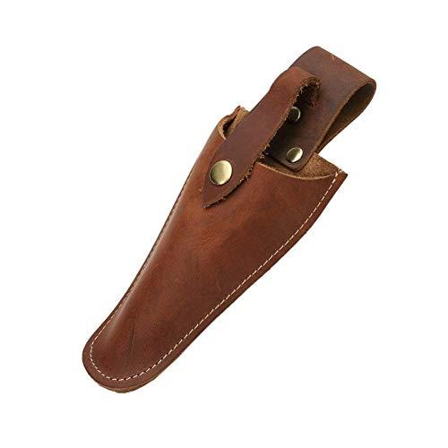 QEES Äkta läder mantel verktyg hölster bälteshållare trädgårdsskötsel väska påse väska för tång, beskärning sax, sekatörer, sax eller trädgårdskniv läderhölster JDB01 (5#)