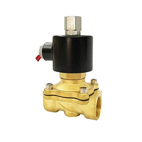 Válvula de solenoide eléctrica 1/4 3/8 1/2 3/4 1 pulgada DN8 / 10/15 / 20/25 / 50 Normalmente abierto Aire de agua neumática Aire 12V / 24V / 220V / 110V ( Specification : DN50 , Voltage : DC24V )