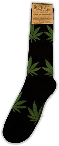 Marihuana Socken, wadenlang, mit Hanf...