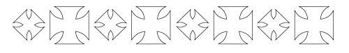 Badger 22-753 Totally Tattoo Body Art Schablonen Eisernes Kreuz Band