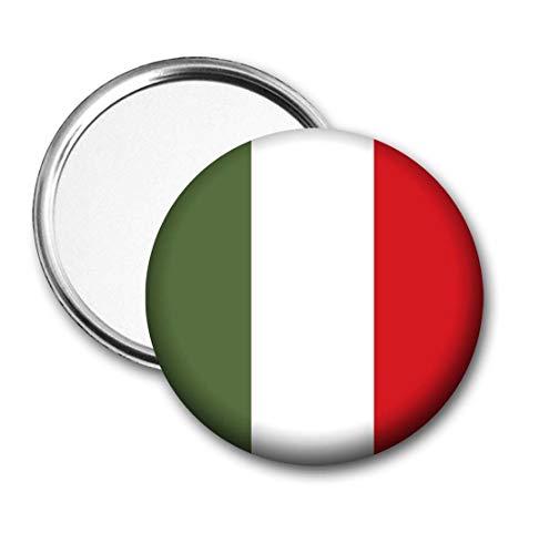 Italië Vlag Pocket Spiegel voor Handtas - Handtas - Gift - Verjaardag - Kerstmis - Stocking Filler - Secret Santa