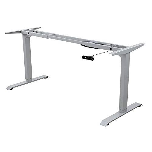 Albatros Schreibtisch-Gestell Lift, Silber, 2X Motoren, elektrisch höhenverstellbar mit Memory-Funktion, Kollisionsschutz und Soft-Start/Stop