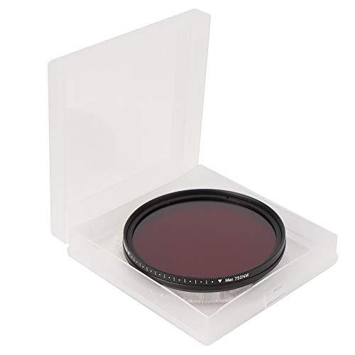 Worii Filtro Ajustable Duradero Ajustable, Filtro infrarrojo, Vidrio óptico para la creación de fotografía con Lente Cámara para Exteriores(67mm)