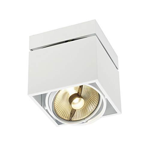 SLV LED Deckenlampe KARDAMOD für eine effektvolle Innenbeleuchtung   Dreh- und schwenkbare LED Deckenleuchte, Decken-Strahler, Spot Innenleuchte   Einflammig, Eckig, Weiß, GU10, max. 75W, E -A++