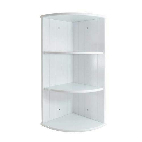 Elito Home & Garden New White Wooden Bathroom Cabinet Shelf Cupboard Bedroom Furniture Storage Unit (3 Tier Corner Shelf)