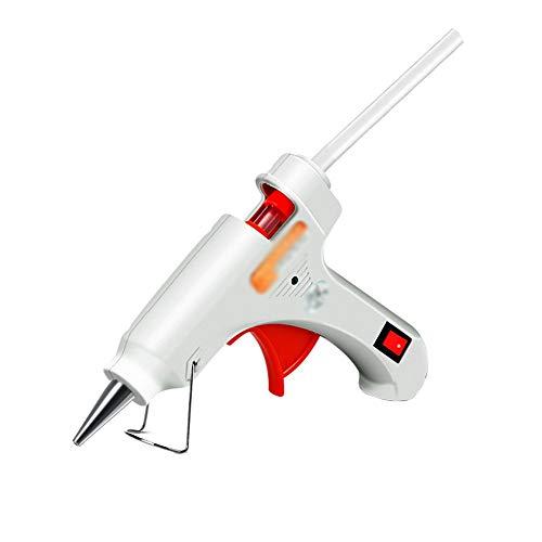 Kai Xin Pistolet à Colle thermofusible avec bâtons de Colle 30/60 50 / 80W Dual Power Bricolage, Traitement Manuel, étanchéité et Entretien Rapide, Blanc (Color : A, UnitCount : 30 Glue Sticks)