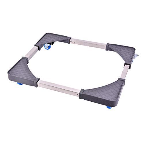 IYSHOUGONG 1 soporte de lavadora ajustable para nevera, soporte multifuncional movible, base ajustable, rodillo móvil para lavadora, secadora y frigorífico.