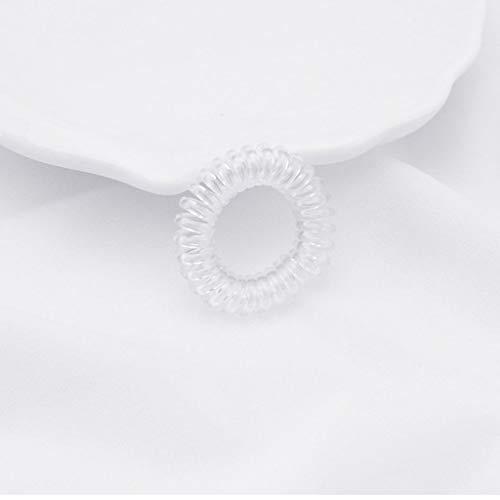 VIccoo Populaire Snoep Gekleurde Transparante Hairwear Telefoon Wire Touw Strip Van Haar Haaraccessoires Groothandel Voor Vrouwen En Meisjes - Wit
