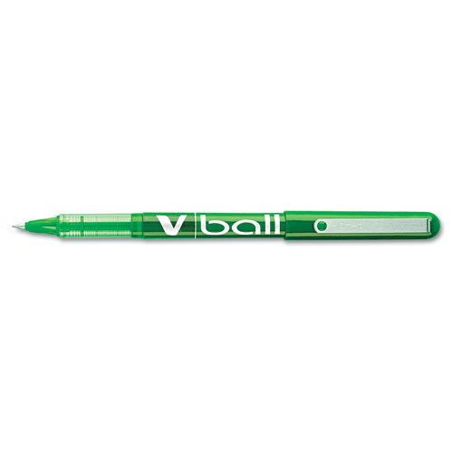Pilot Products - Pilot - VBall Roller Ball Stick Liquid Pen, Green Ink, Extra Fine, Dozen - Sold As 1 Dozen - Special formula ink and advanced feed system. - Transparent grip. -