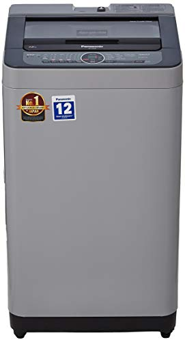 Panasonic 7.2 kg Built-in Heater Fully-Automatic Top Loading Washing Machine (NA-F72BH8MRB,Middle free silver,Active Foam System) with Water Reuse