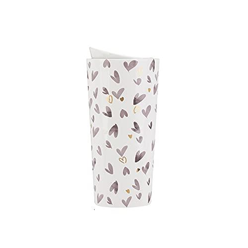 Tazas de cafe Taza del viaje del vaso de viaje Taza de 10,8 oz con taza de cerámica tiene un efecto de aislamiento de doble capa adecuado para viajes para damas Tazas personalizadas ( Color : A )