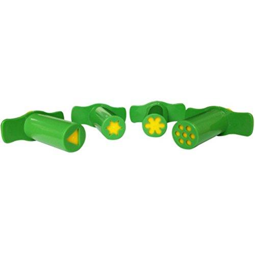 STOBOK 6 stücke Kunststoff Extrudieren Spritzen Teig Knetmasse Mold Crafting Tool Set Kinderspielzeug