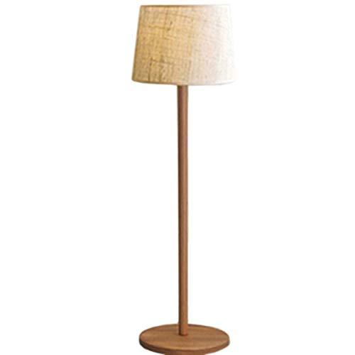 BINGFANG-W Dormitorio Led Creativo Lámpara de Piso, nórdica Moderna Simple de Hierro Real del Grano de Madera Sala Eye-Cuidado Vertical luz del Piso Lámparas de pie