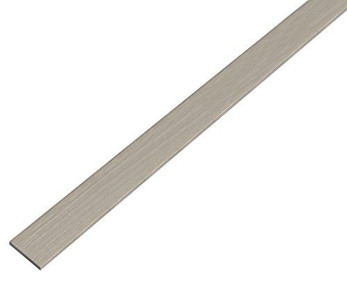 GAH-Alberts 488666 Flachstange - selbstklebend, Aluminium, edelstahldesign, dunkel, 1000 x 15 x 2 mm