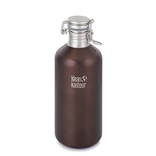 Klean Kanteen Single Wall Stainless Steel Growler with Leak Proof Stainless Steel Swing Lok Cap
