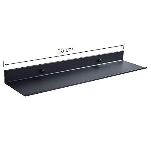 KEWEI Estante Promoción al por Mayor Accesorios de baño 30-60cm Estantes Modernos de baño Negro Mate Estante de Pared de Cocina Estante de Almacenamiento de baño de Ducha (Color : 50 CM Length)