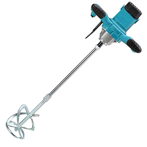Mortar Mixer, ApexOne AC 110V 2100W Anti-Slip Handheld 6-Speed Electric Mixer with US Plug for Stirring Plaster Mortar Paint Cement Grout Mix Stirrer Paddle Mixer (Light Blue)