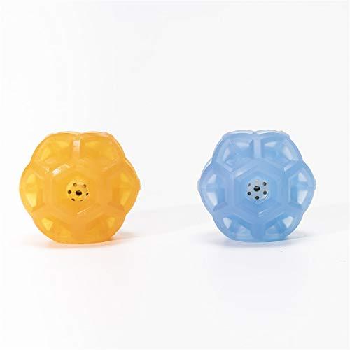 PUPWONG Hundeball Quietschend Set Hundespielzeug Ball Wasserdicht Quietschball kauen und beißen für Große und Kleine Hunde Training Spielen Laufen Schwimmen (2er Set (Orange + Blau))