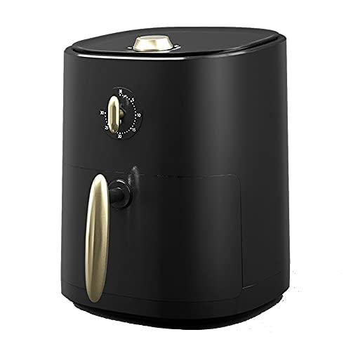 Freidora De Aire, 3QT Freidoras Eléctricas De Aire Caliente De 1000 W, Cocina Sin Aceite, Sistema De Circulación De Aire Rápida, Con Olla Antiadherente, Apta Para Lavavajillas,Negro