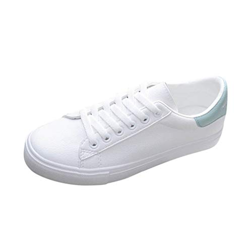 BALABA❥Teen Girls Student Casual Low Top Sneaker White Walking Shoes Comfortable Lace-up Flat Shoes for Women