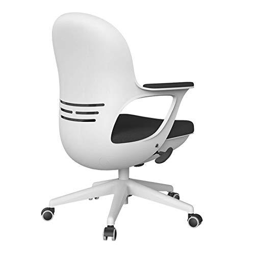 DFMD bureaustoel – Moda zwart wit studenten draaistoel Home Office Comfort Sponge Computer Lounge Chair