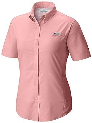 Columbia Women's PFG Tamiami II Short Sleeve Shirt, Moisture Wicking, Sun Protection
