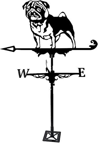veletas de viento para jardin para tejado Cuerpo de tiempo del clima del clima del acero inoxidable con el montaje en la azotea Animal Metal WeatherVane, techo Metaltions Regalo for el jardín del pati