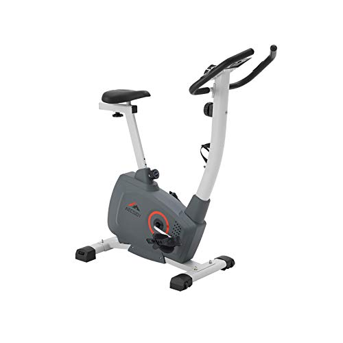 AECOJOY Magnetic Resistance Exercise Bike, 8-Level Magnetic Indoor Cycling Bike LED Monitor Exercise Bike with Leather Resistance Pad & Comfortable Seat Cushion