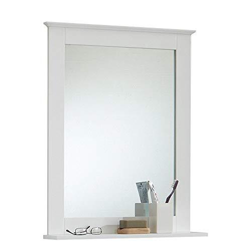 13Casa - Eva A3 - Specchio con mensola. Dim: 60x12x78 h cm. Col: Bianco. Mat: MDF., legno, squadrato