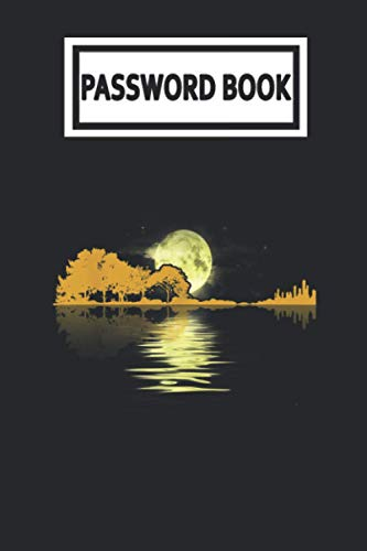 Password Book: Guitar Lake Shadow Love Guitar Guitarist Player Password Organizer with Alphabetical Tabs. Internet Login, Web Address & Usernames Keeper Journal Logbook for Home or Office