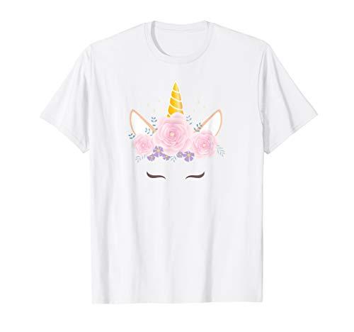 Einhorn-Gesichts T-Shirt | Einhorn Geschenk zum Geburtstag T-Shirt