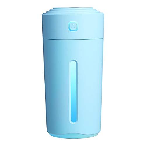SDCNDAND Mini humidificador de automóviles USB, Luces de Colores portátiles de ión Negativo del columnar, Spray de purificación de Aire, para Dormitorio en el hogar Junto a la Cama,Light Blue
