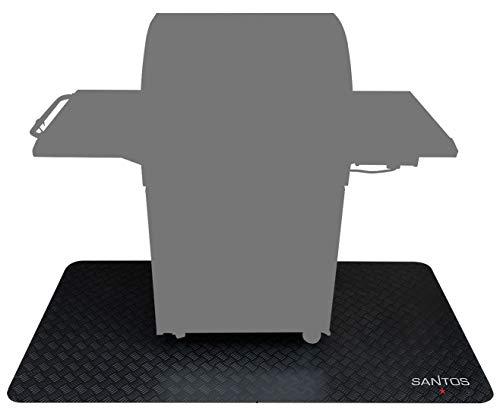 Santos Grillmatte, Grill-Unterlage und Boden-Schutzmatte für Gasgrills, outdoor geeignet, Größe: 169 x 100 cm