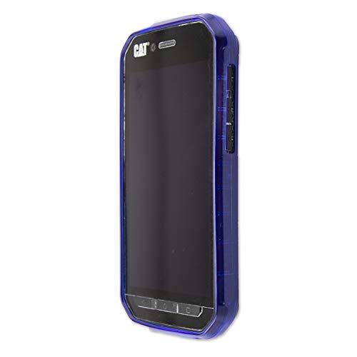 caseroxx TPU-Hülle für Cat S41, Handy Hülle Tasche (TPU-Hülle in blau)