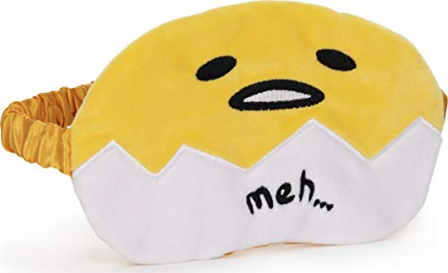 GUND Sanrio Gudetama The Lazy Egg Sleep Mask Soft Plush, Yellow and White, 4'