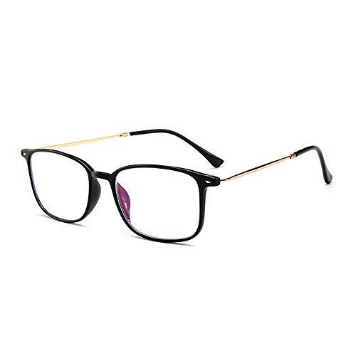 Ultradunne blauw lichtfilter leesbril met metalen frame anti-blauw licht computerbril leeshulp +3.5 zwart