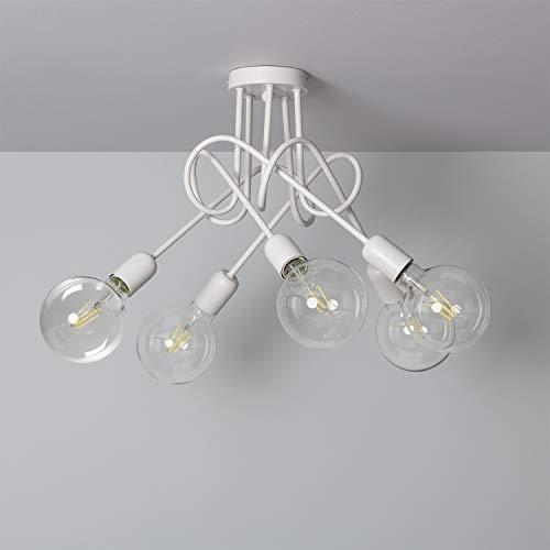 LEDKIA LIGHTING Lampada da Soffitto Harva Bianco