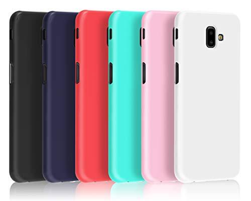 VGUARD [6 Stücke] Hülle für Samsung Galaxy J6 Plus 2018 / J6+ 2018, Ultra Dünn Tasche Schutzhülle Weiche TPU Silikon Gel Handyhülle Hülle Cover (Schwarz+Blau+Rot+Grün+Rosa+Transparent)