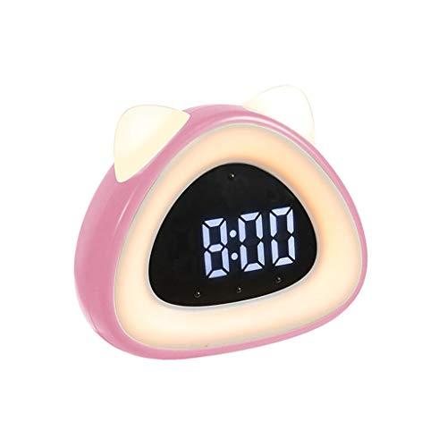 ZRL Reloj despertador digital inteligente con función de despertador y función de repetición de plástico, bonito reloj despertador para niños y accesorios de dormitorio (color rosa