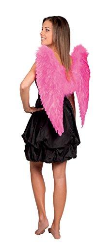 Aptafêtes - AC0050 - Maxi ailes d'ange plumes fuchsia - Taille 65 x 65 cm